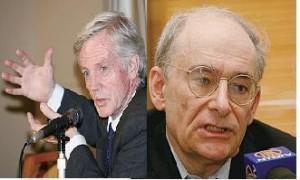 左: 加拿大外交部前亚太司司长乔高。 右:(AFP)著名国际人权律师麦塔斯。