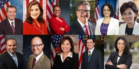 2015年美西南法轮大法心得交流会于10月15日至17日在洛杉矶举行,从洛杉矶市议会到加州参众两院及国会议员纷纷发来贺状、褒奖祝法会成功。(大纪元合成图)