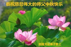 越南大法弟子恭祝慈悲偉大的師父中秋快樂!
