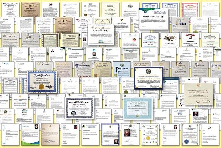 2021年世界法轮大法日期间,法轮功收到多国政要褒奖、贺信逾500个。